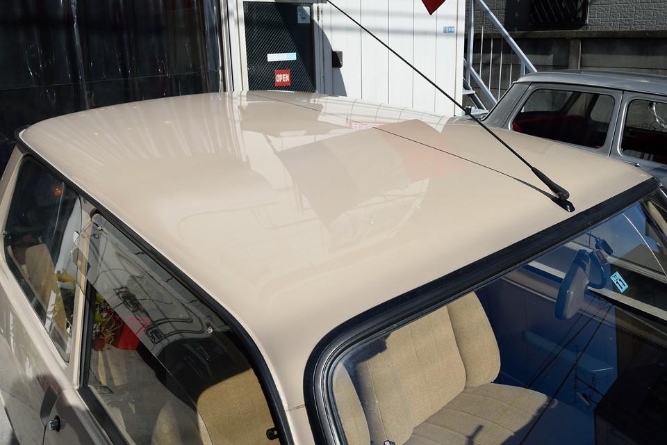一番傷みやすいルーフの塗装もこの通り!色褪せ、クリア剥がれもありません!