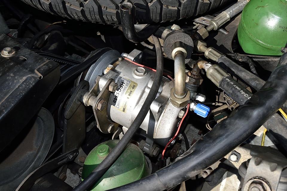 気になるエアコンもサンデン製134ガスコンプレッサーに換装済み!これかなり安心ですね。