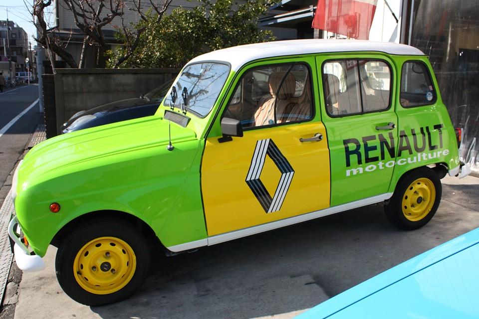 デザインのモチーフは60〜70年代のルノーのサービス車両です。 こんなサービス車だったら用も無いのに呼んじゃうっつ〜の!