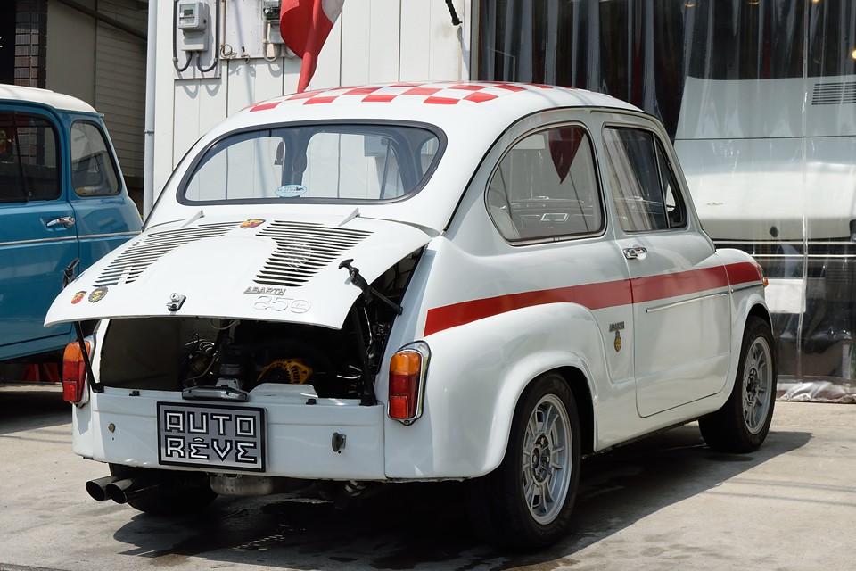 FIAT600をベースに、イタリアで仕上げられた希少車!エンジンもアウトビアンキA112アバルト用にスイッチ!ってことは本物ABARTH850TCを超えた?!