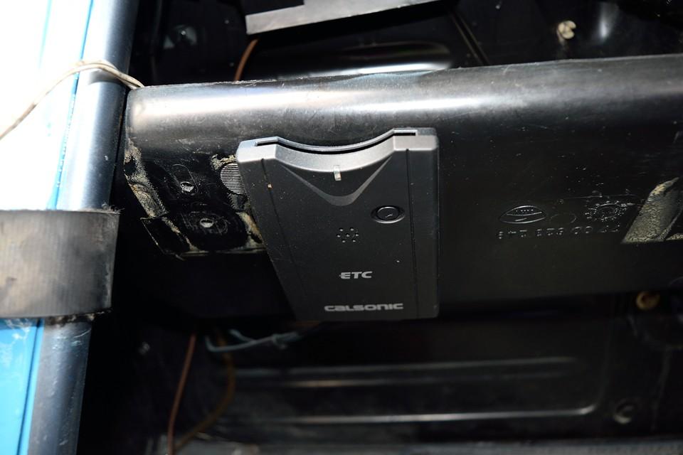 ETCももちろん装備!左ハンドル車にはもはや必須なのです!
