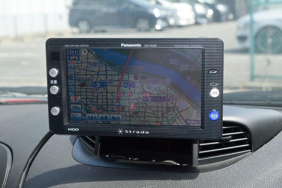 高機能なpanasonic製stradaHDDナビも装備!安心してどこでも行っちゃってください。