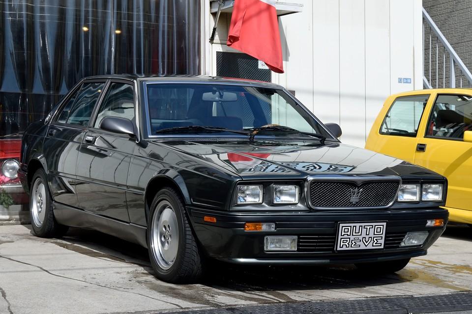 1992(平成4)年式マセラティ430!な、なんと貴重な5MT車!ビトルボエンジンをMTで操れるなんて・・・想像しただけでアドレナリンがぁ~!