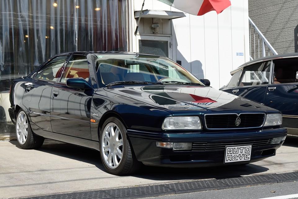 1997(平成9)年式マセラティ クアトロポルテV8!純血マセラティ最後の上級V8、MQ8クアトロポルテ! ビトゥルボ直系の本ウッド・本レザーインテリア!エボとはやはり違います。