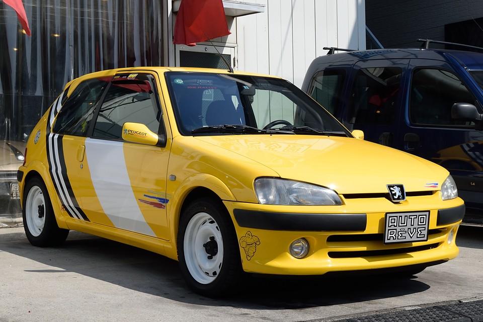 2003(平成15)年式 プジョー106 RALLYE 16V!競技レベルの車両なのに、AC装備で普段使いも出来る凄いヤツ!平凡な毎日に「喝!」を入れてくれる事、間違いなし!