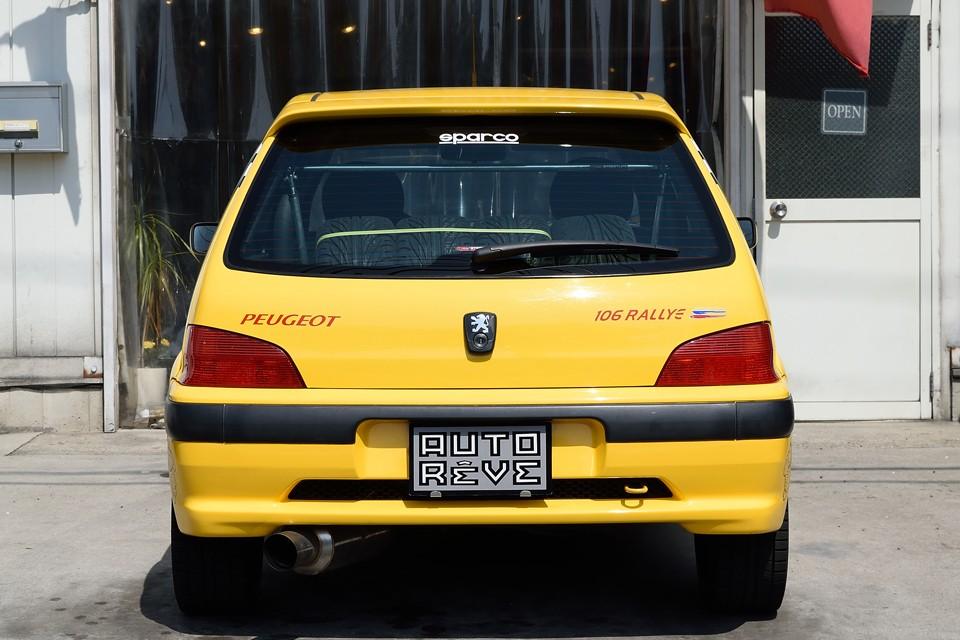 日本で最もポピュラーなS16と同じデザインですが、唯一見た目での違いは、このロゴ!「106RALLYE」が燦然と輝いてます!