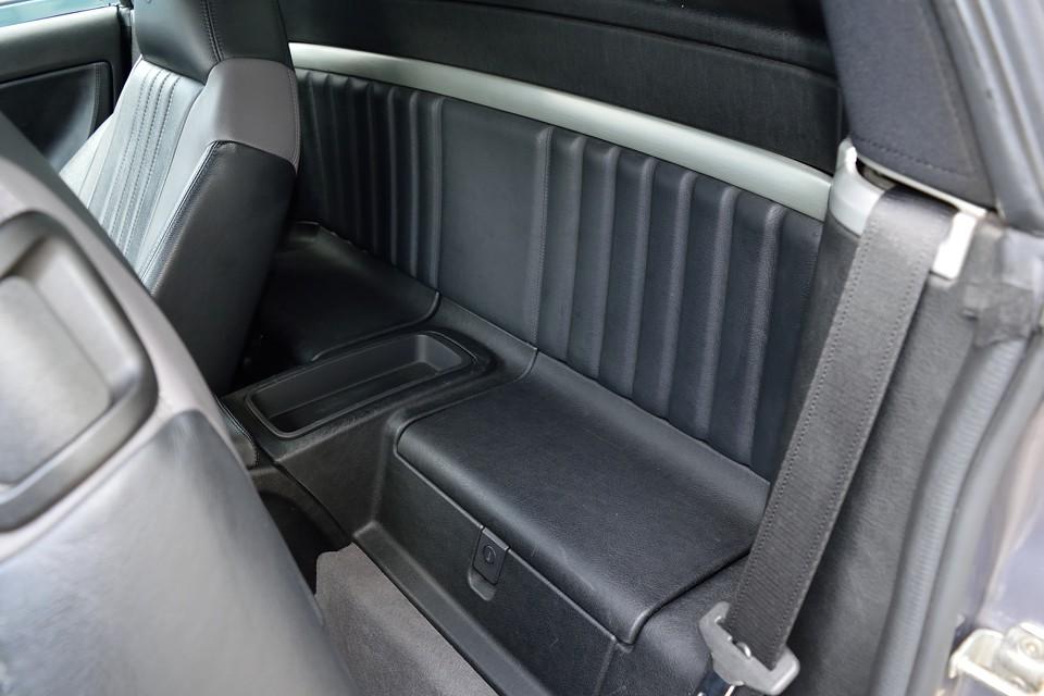 シートバックに、これだけのスペースがあります。手荷物でしたら十分置けるスペースです。鍵付きの物入れもありますので、意外と収容能力はあります。