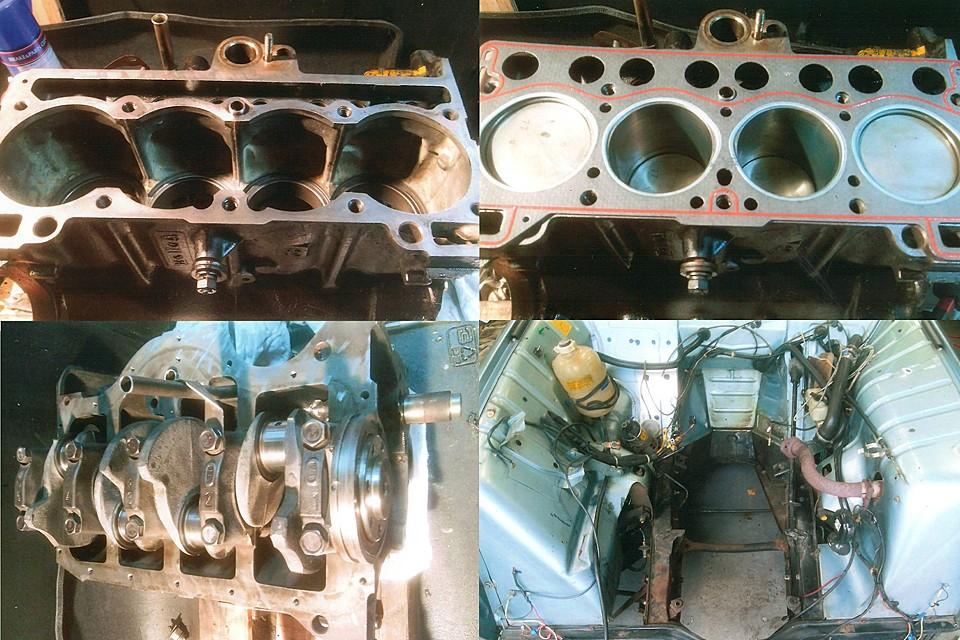え~、まずはエンジン下ろして、エンジン及びシリンダーヘッドO/Hを実施!ね、キレイになったでしょ~!