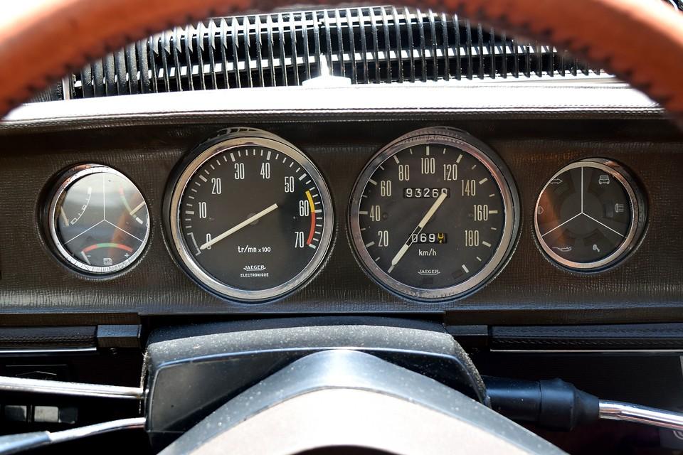 現在、オドメーターはご覧の数字ですが、旧車のため走行不明とさせていただきました。