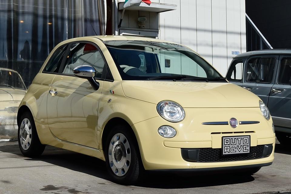 2009(平成21)年式 フィアット500 1.2 8V POP バニライエロー!限定150台のメッチャ人気のバニライエロー!ただでさえ可愛いチンクが限定カラーで更に可愛さパワーアップ!