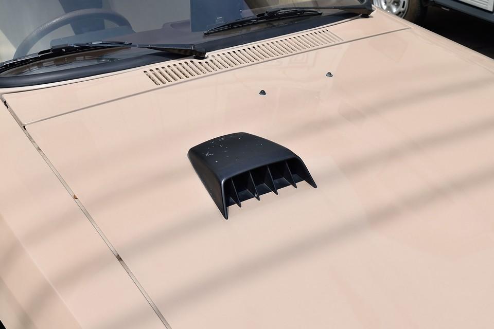 ボンネット上の黒いエアインテークは正規ディーラー車だけの装備!