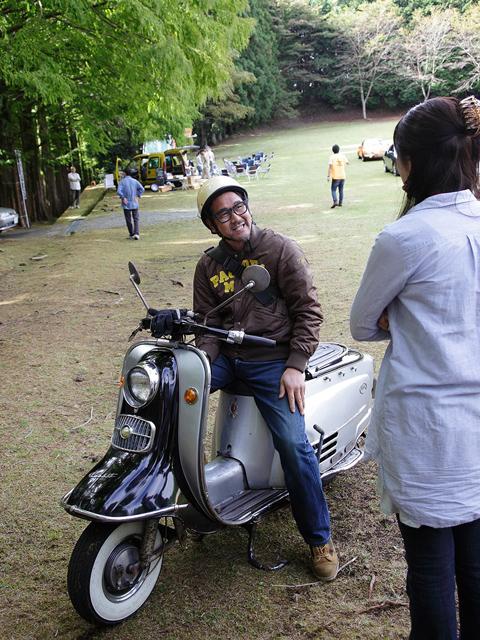 で、唯一バイクで参加していただいたオビちゃん!遠いところホントお疲れさま!ゆっくり休んで、楽しんでねぇ~。