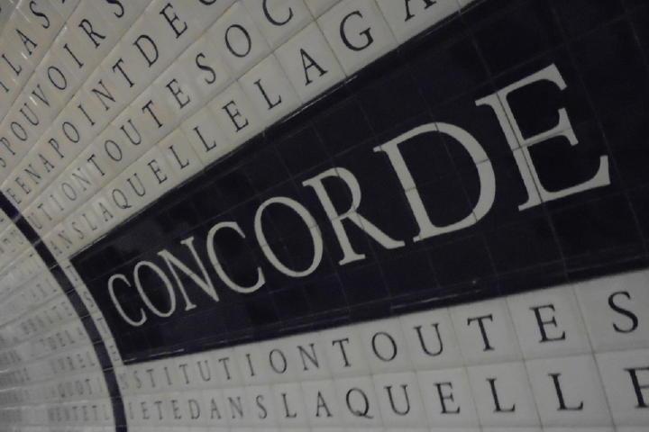 というわけで、あっという間にコンコルド駅に到着~!