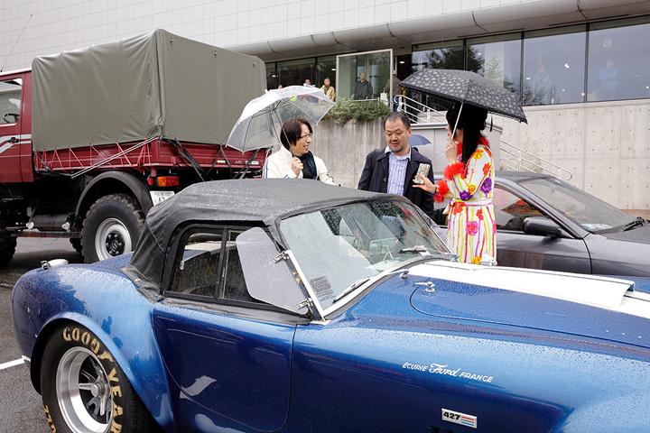 Kさんお久しぶりです!雨の中、愛車のコブラで駆けつけていただいて、ホントにありがとう御座います!